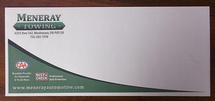 Meneray envelope - top