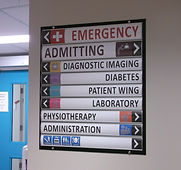 hospital directional signs wayfinding sy