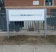 post and panel sign frame Alzheimer Soci