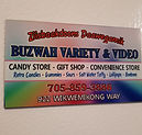 buzwah variety video gift shop fridge magnet