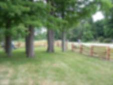 straight rail fence - yard boundary.JPG