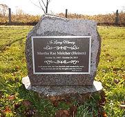 engraved memorial plaque headstone grave