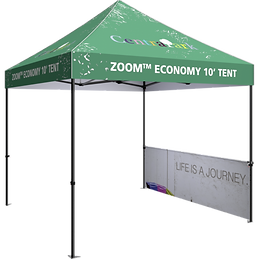 10ft zoom tent with half wall kit