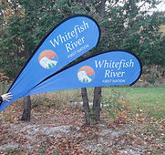whitefish river first nation shaped flag
