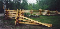 Snake Rail Fence - garden center