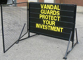 vandal guard for portable sign