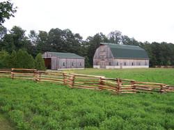 snake rail fence - barn