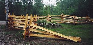 snake rail fence - garden centre