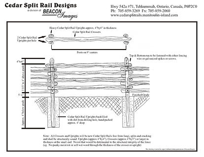 cedar split rail fence design layout