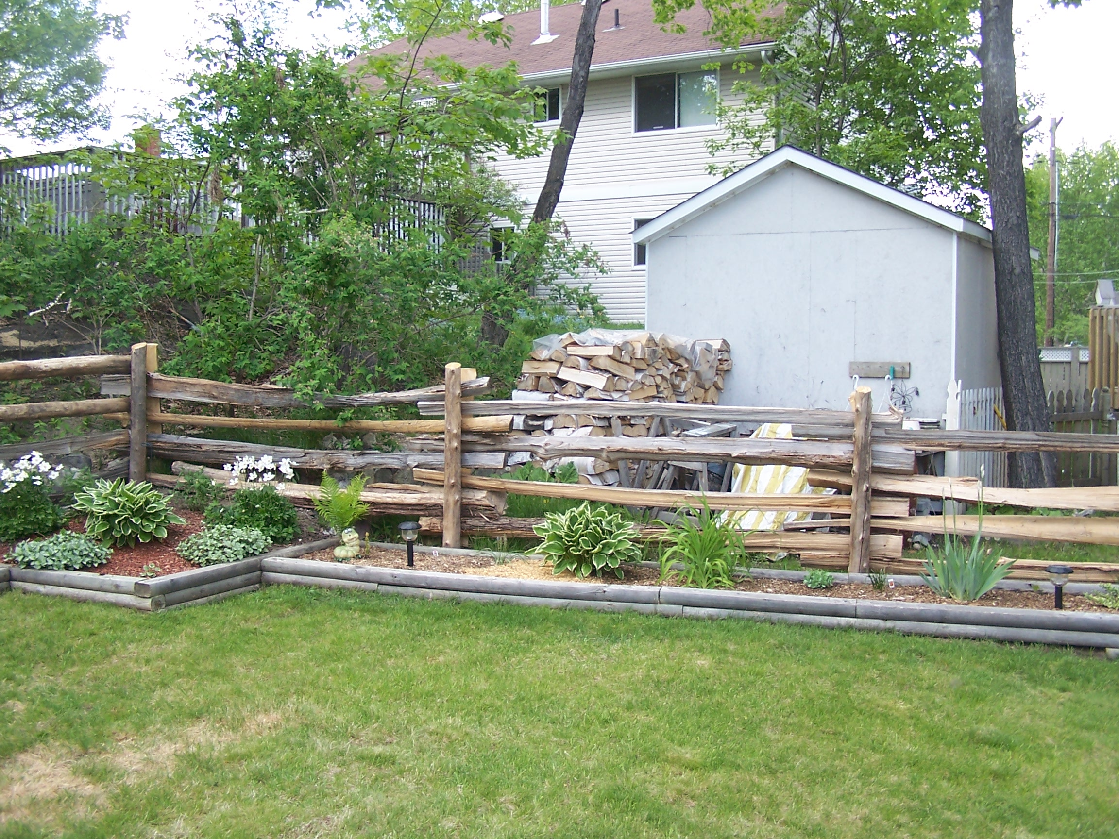 straight rail fence - yard 2