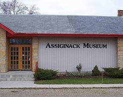 assiginack museum outdoor lettering