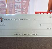 giant blank cheque wiikwemkoong unceded