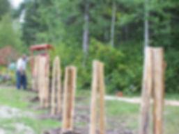 installation - straight rail cedar fence