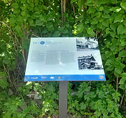 billings connections trail sign pedestal