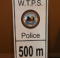 500m ahead sign alupanel outdoor sign wikwemikong tribal police