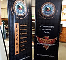 wikwemikong tribal police rectractable banner stand tradeshow display