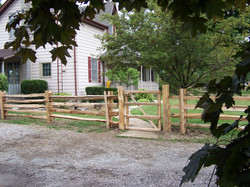 straight rail fence - property - gate