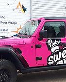 pinky swear studio custom printed pink j