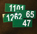 numbered civic address 911 residential signs aluminum double sided