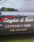 taylor & son construction business vehic