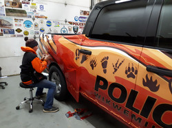 Installation of second part of wrap