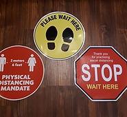 covid standard floor decals stickers bea