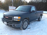 Hannah's truck - front angle - full textured vehicle wrap by Beacon Images