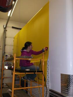Applying yellow