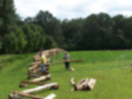 installation - snake cedar rail fence