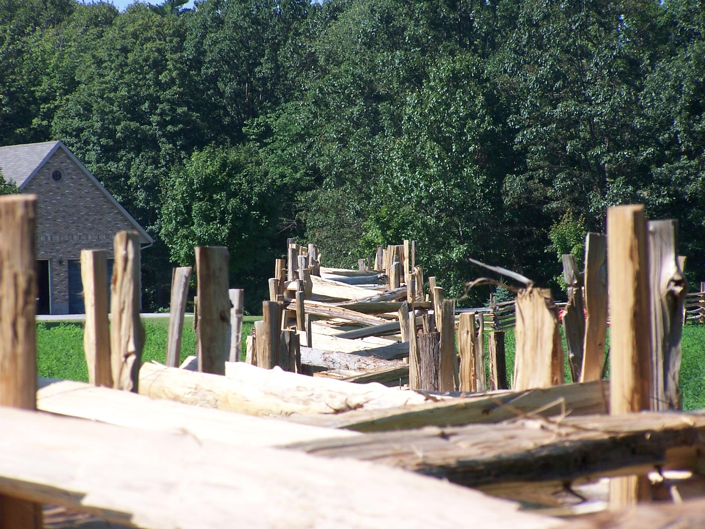 snake rail fence - top - zig zag