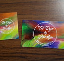 tie dye by jordyn manitoulin business card and garment tags