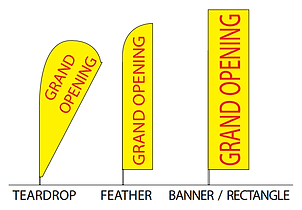 Flag Shapes - teardrop, feather, banner/rectangle