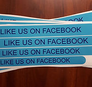 like us on facebook stickers custom stic