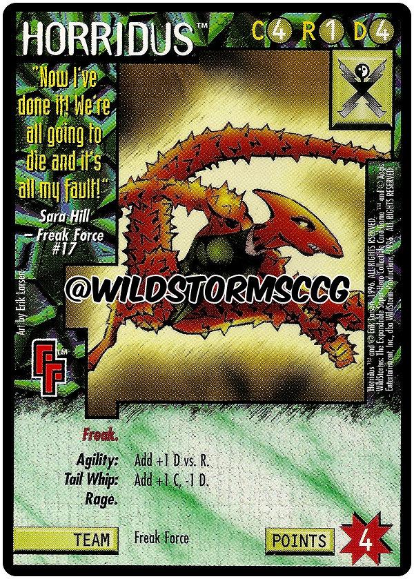 wildstorm wildstorm ccg promo card rare erik larsen