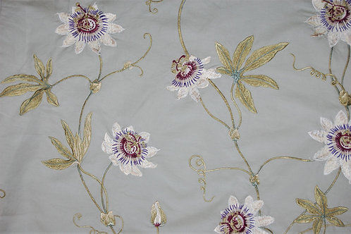 Colefax & Fowler Embroidered Passion Flowers