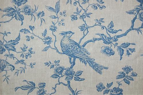 """French Linen """"Regal Bird Blue"""""""