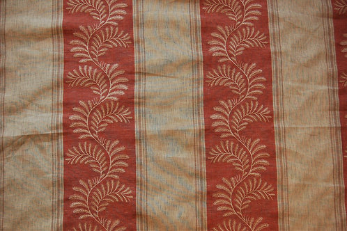 Colefax & Fowler Embroidered Valora Red