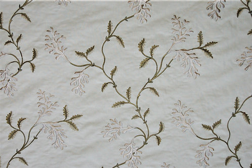 Colefax & Fowler Embroidered Coral Tree Green