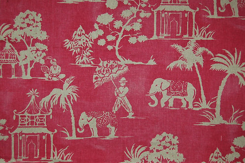 Indian Design on Pink Linen