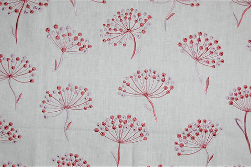 Jane Churchill Embroidered Alba Red