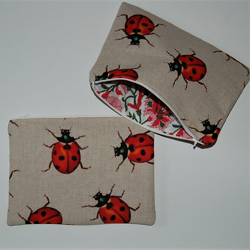 Ladybird zipped bag