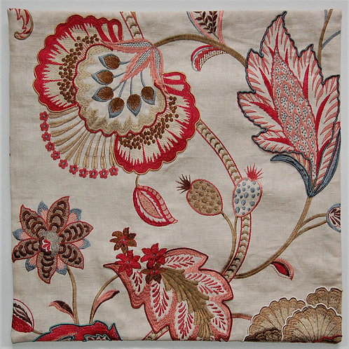 Colefax & Fowler Embroidered Carmen Red