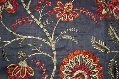 Colefax & Fowler Embroidered Bizet