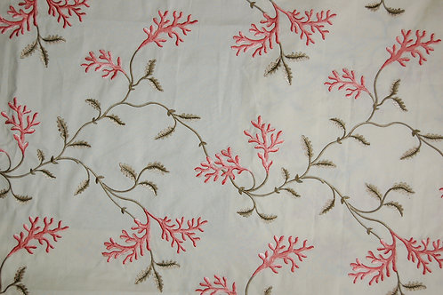 Colefax & Fowler Embroidered Coral Tree Red