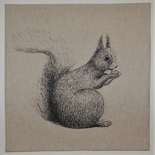 Squirrel on Beige cushion cover