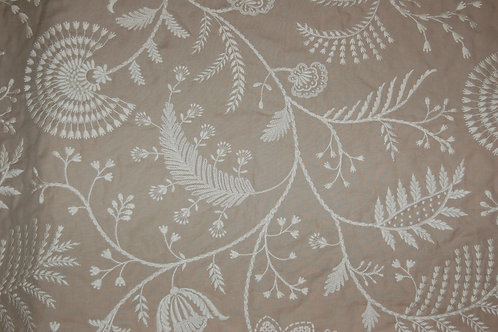 Colefax & Fowler Embroidered design on stone line backgroundn