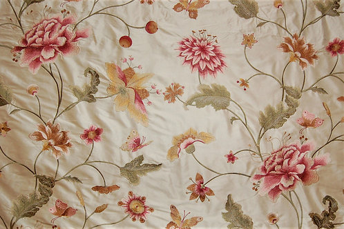 Colefax & Fowler Embroidered Silk Colbert