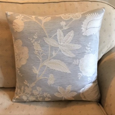 Colefax & Fowler Embroidered Camille Silver