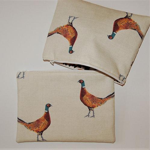 Philip Pheasant zipped bag