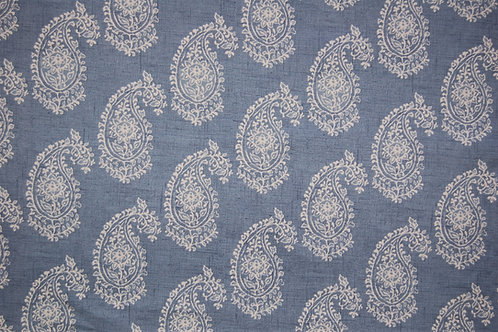 Harriet Paisley on chambray blue